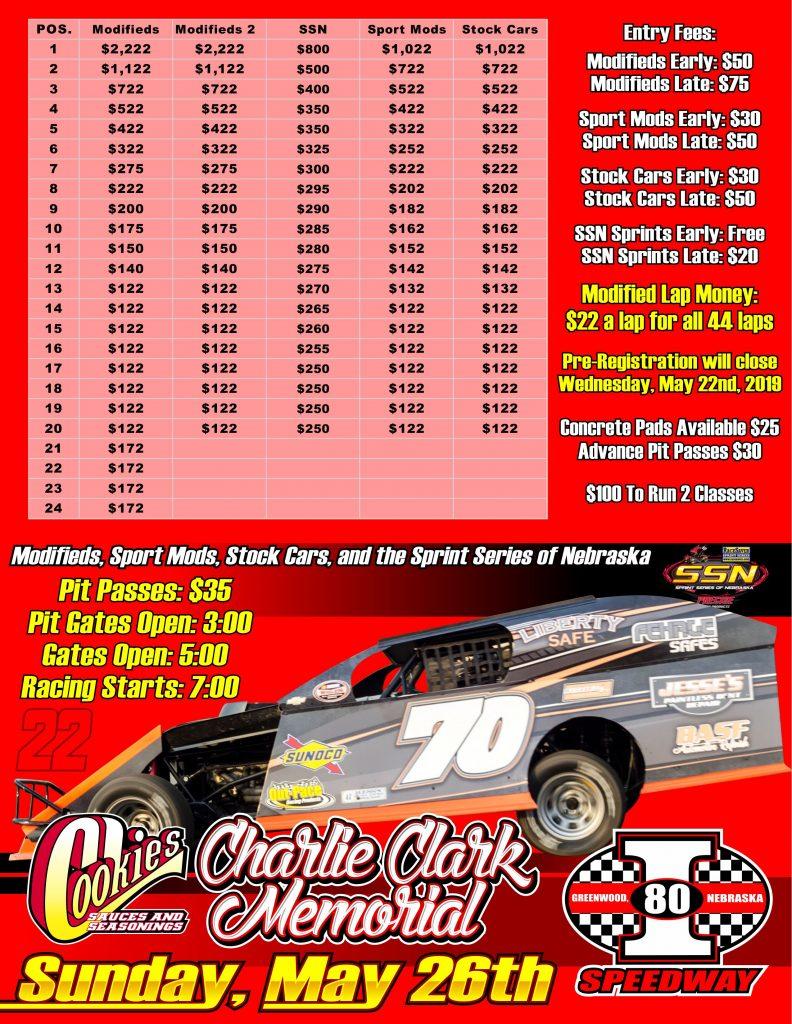 Cookies Bbq Charlie Clark Memorial I 80 Speedway